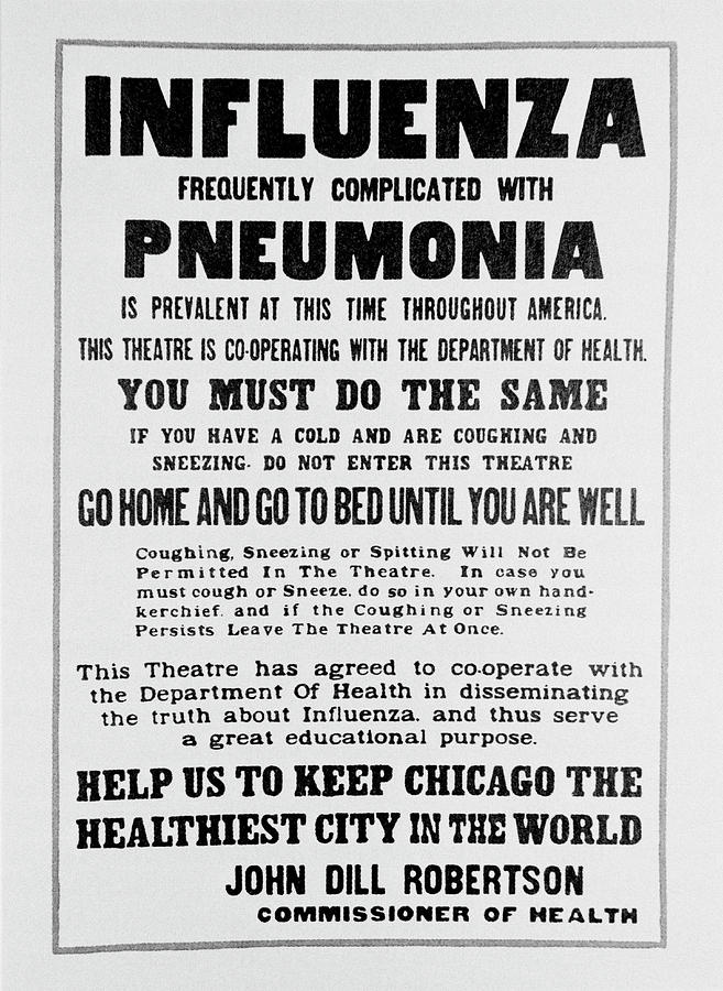 Poster Photograph - Influenza Poster by Science Photo Library