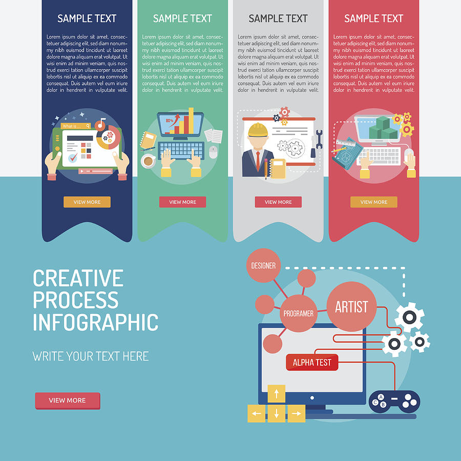 Infographic Creative Process by Graphiqa-Stock