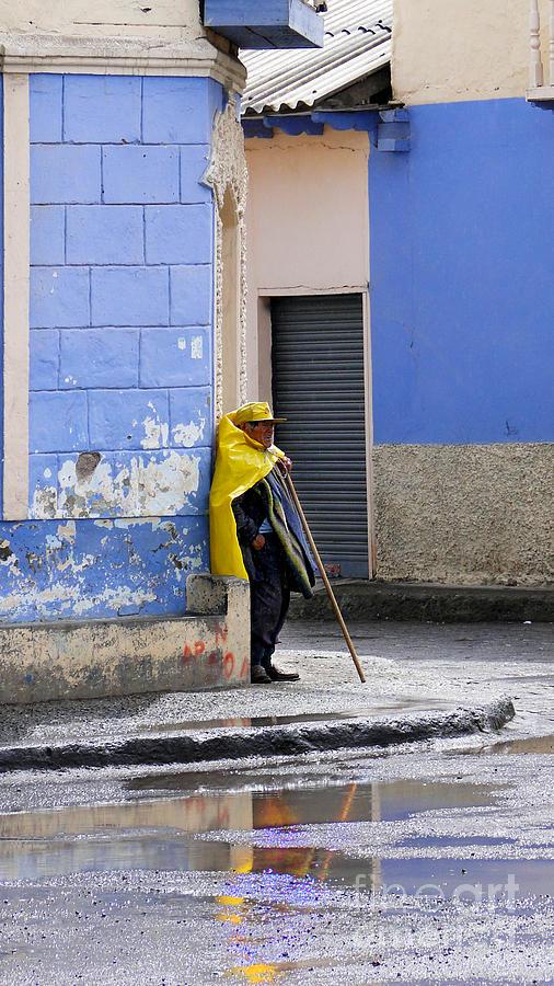 Info Photograph - Information Man In Penipe Ecuador by Al Bourassa