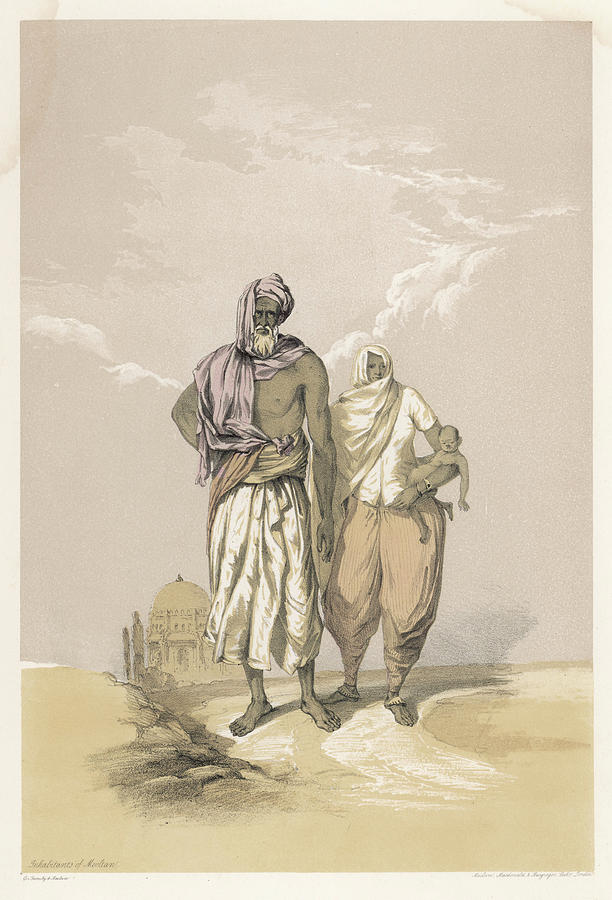 Racial Drawing - Inhabitants Of Mooltan (aka  Multan) - by Mary Evans Picture Library