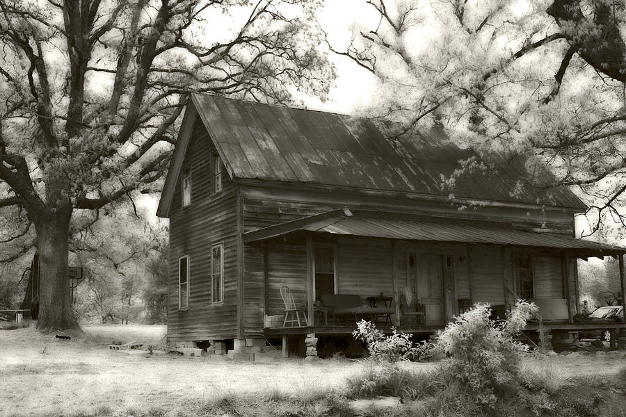 Old Farm House Photograph - Inhabited by Tanya Jacobson-Smith