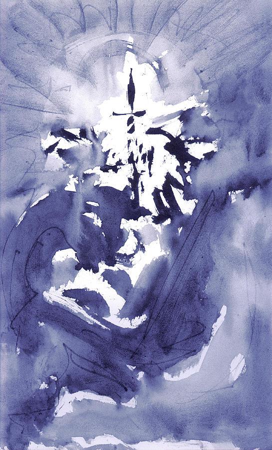 Meditation Painting - Initiation by Yuri Lushnichenko