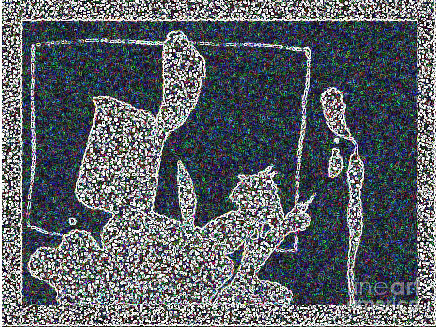 Abstract Digital Art - Ink Blot 2 by Helen Babis