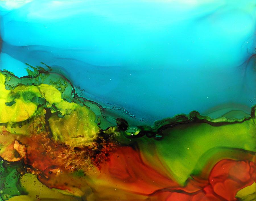 ink landscape # 131 by Sandra Fox