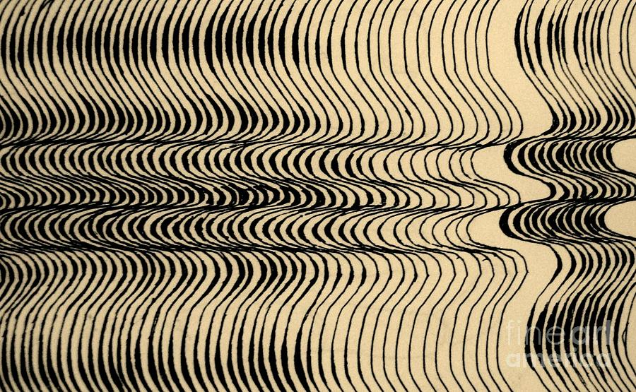 ink op art drawing by john malone