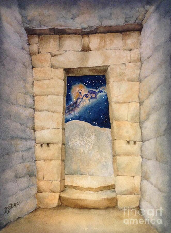 Incan Doorway Painting - Inkan Portal  by Kym Stine