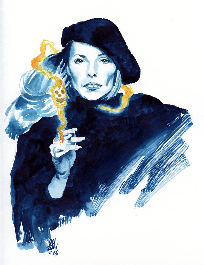 Joni Mitchell Painting - inktober 25 Jonis folly by Ken Meyer jr
