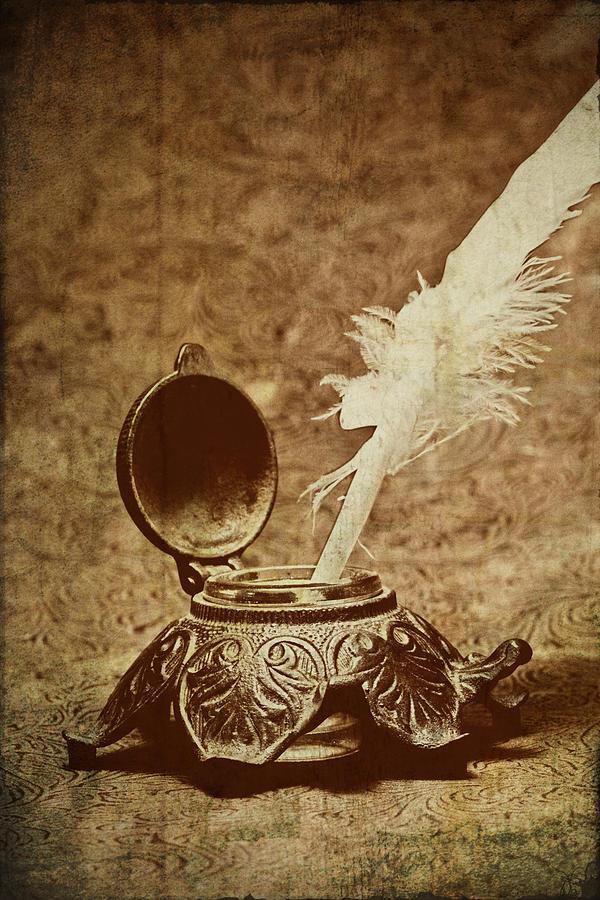 Antique Photograph - Inkwell II by Tom Mc Nemar