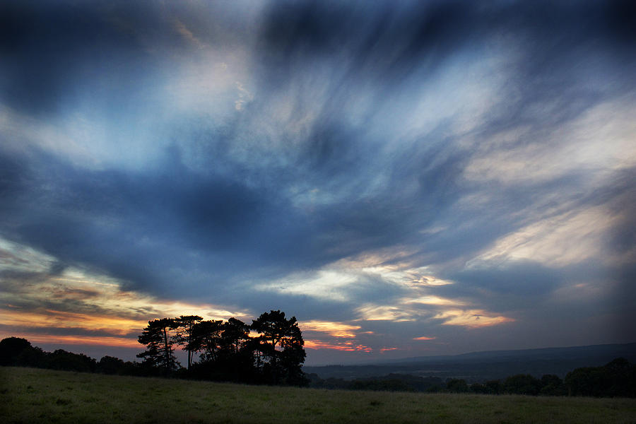 Sunset Photograph - Inky Sunset by Ed Pettitt