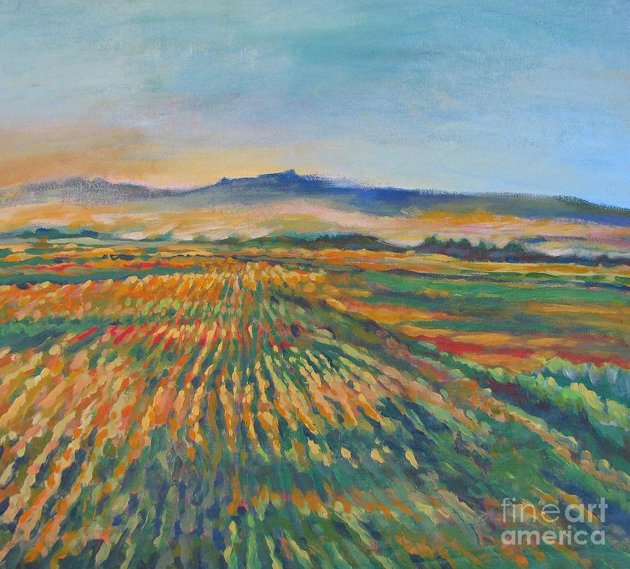 California Painting - Inland Fields by Vanessa Hadady BFA MA