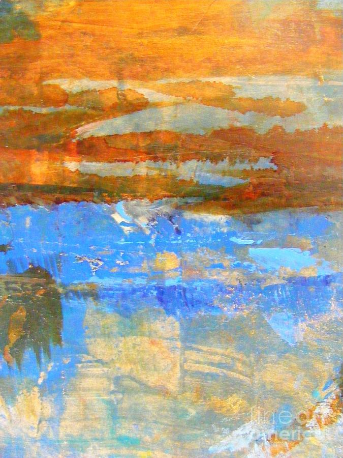 Abstract Painting Mixed Media - Inland Sea by Nancy Kane Chapman