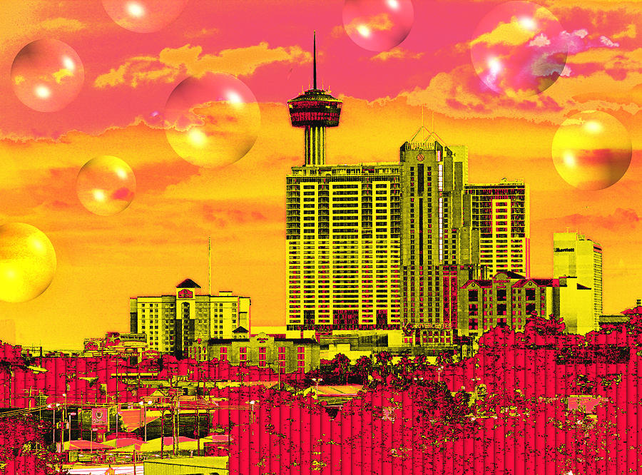 San Antonio Digital Art - Inner City - Day Dreams by Wendy J St Christopher