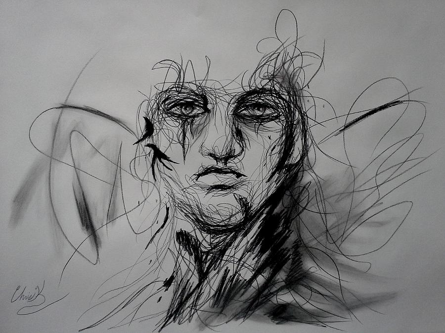 Charcoal Drawing - Inner Demons by Christopher Kyle