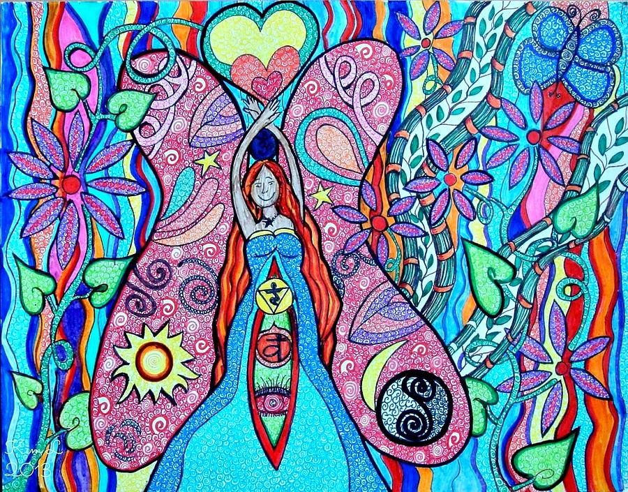 Goddess Drawing - Inner Goddess by Kim Larocque