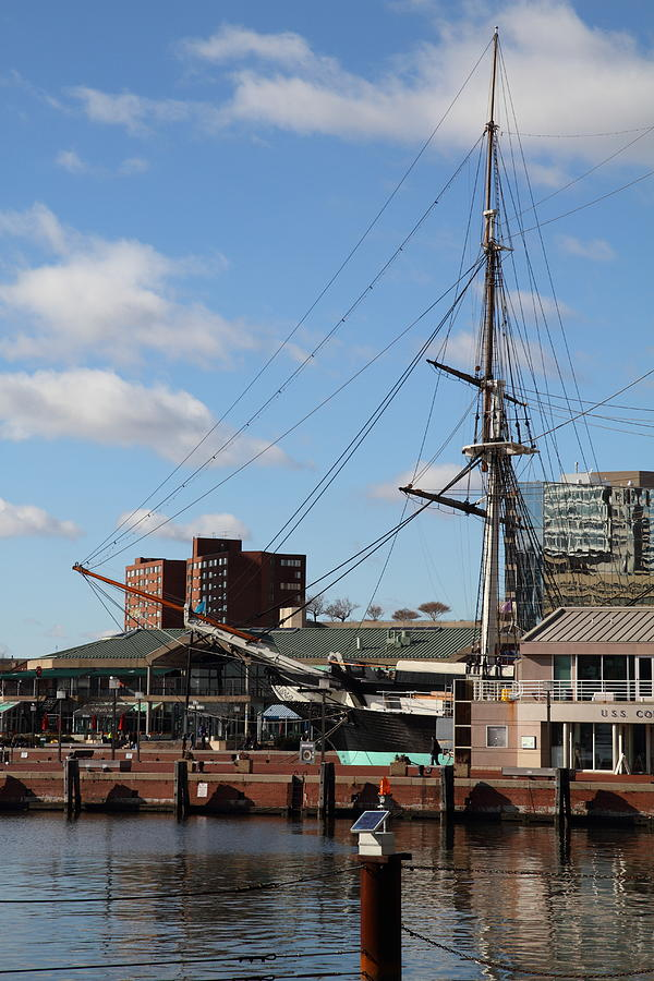 Inner Photograph - Inner Harbor At Baltimore Md - 12128 by DC Photographer