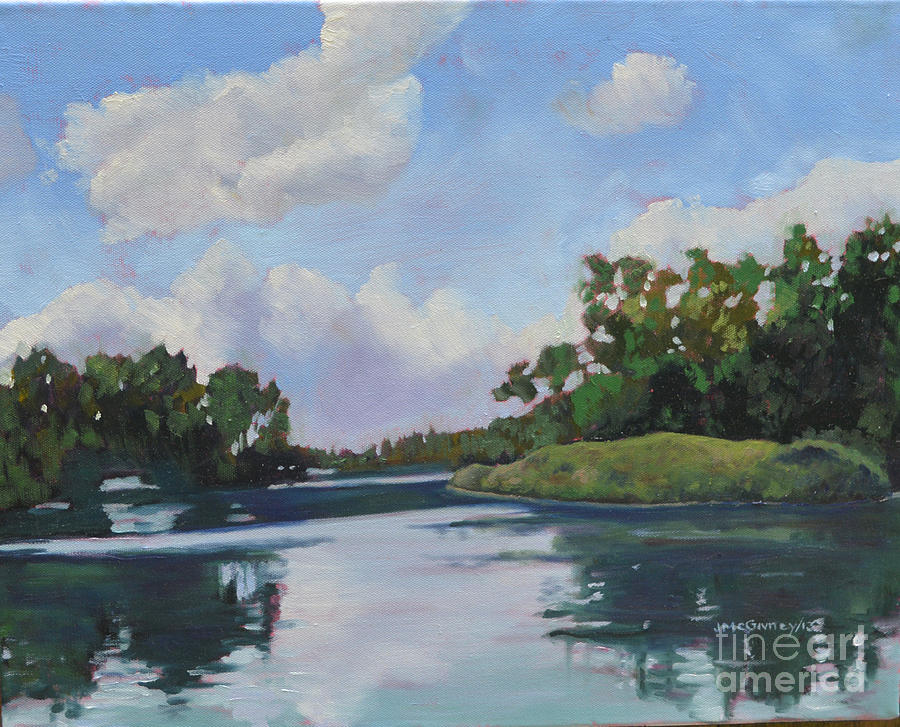 Summer Landscapes Painting - Inner Islands Toronto Island by Joan McGivney