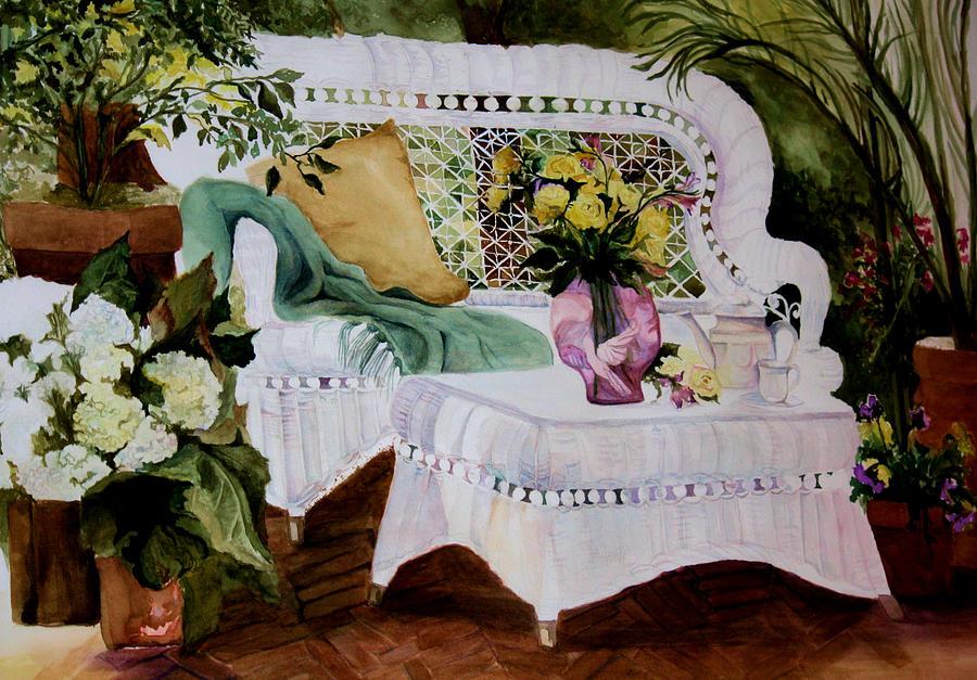 Garden Painting - Inner Peace by Karen M Scovill