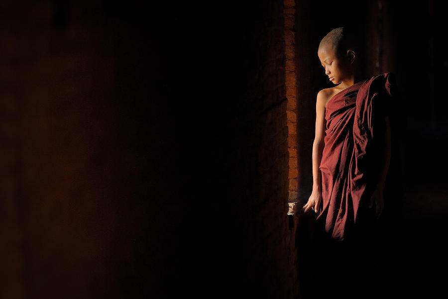 Monk Photograph - Inner Peace by Vichaya