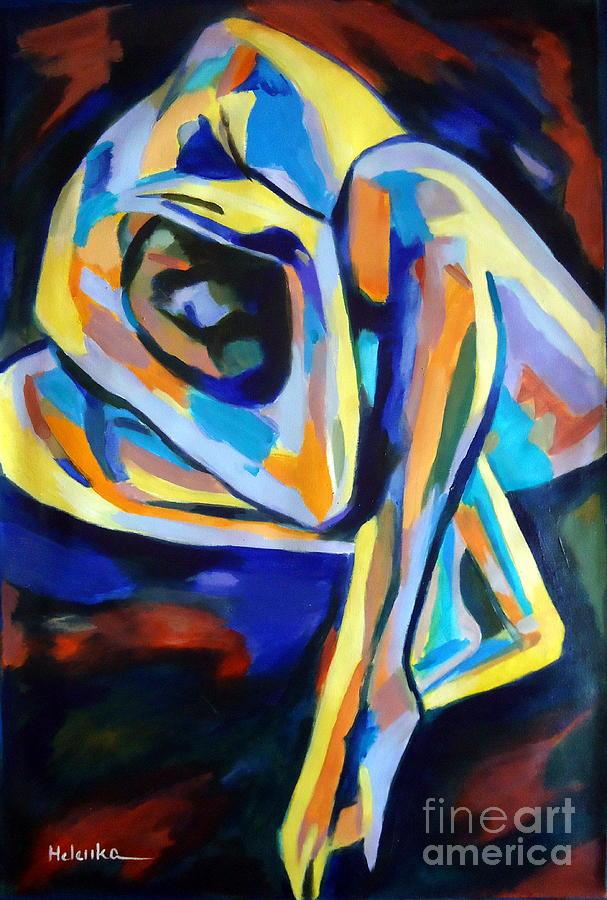 Portrait Painting - Inner Reality by Helena Wierzbicki