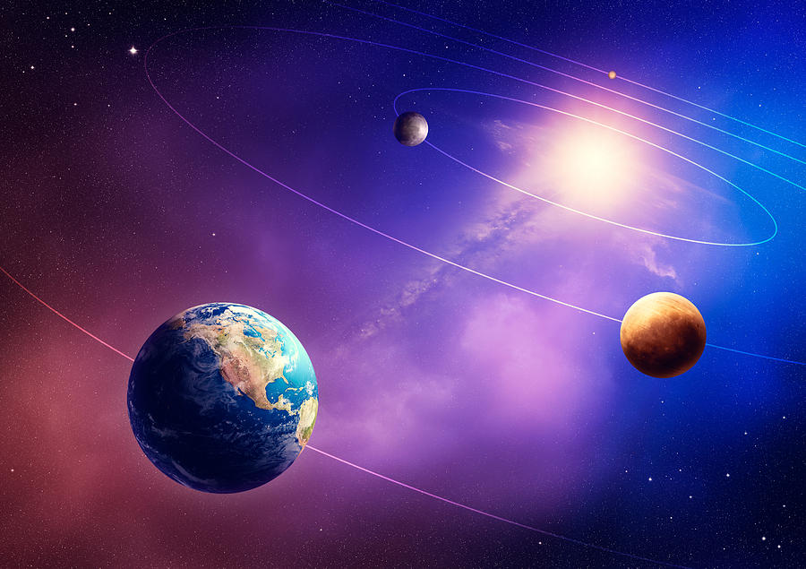 Planet Photograph - Inner solar system planets by Johan Swanepoel