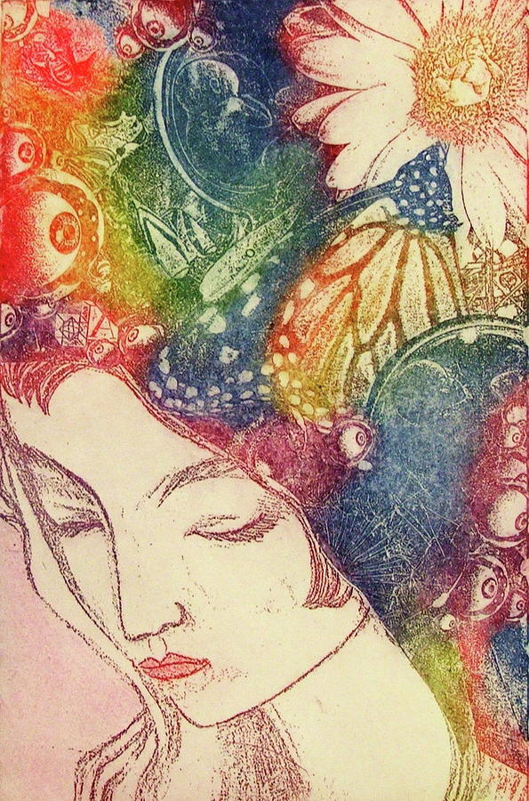 Thoughts Mixed Media - Inner Thoughts by Juliann Sweet