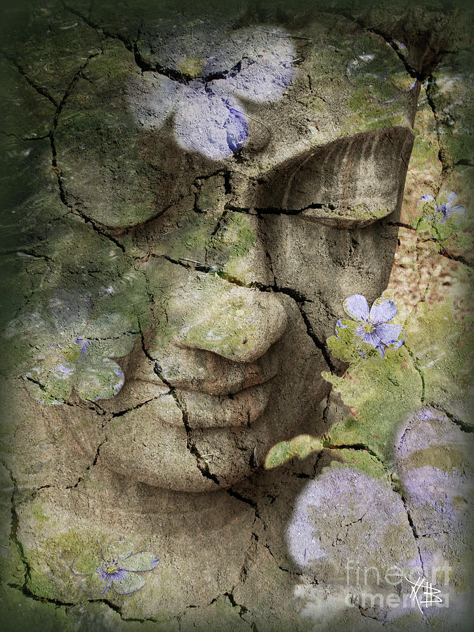 Buddha Mixed Media - Inner Tranquility by Christopher Beikmann