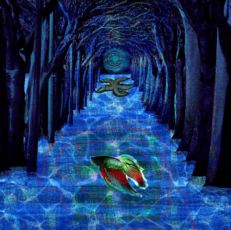 Maraia Digital Art - Inner Woods by Maria Jesus Hernandez