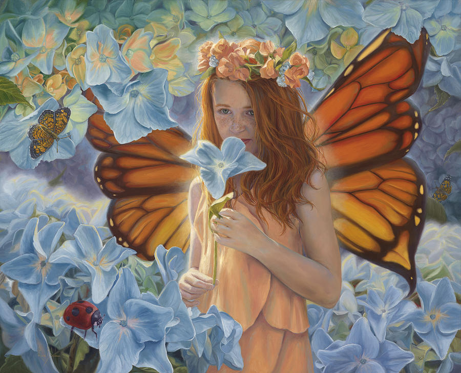 Fairy Painting - Innocence by Lucie Bilodeau