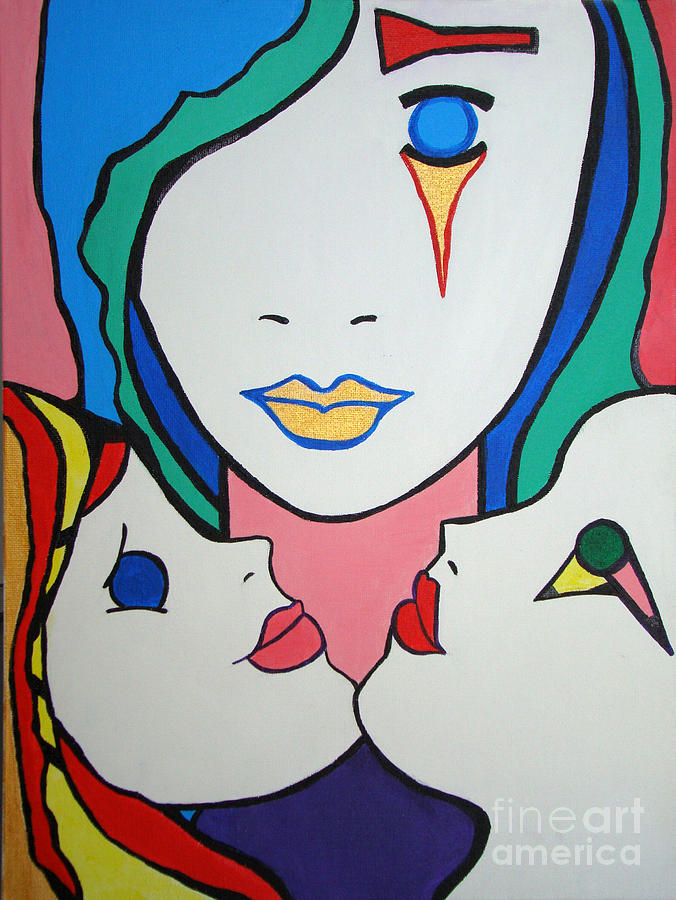 Pop-art Painting - Innocence by Silvana Abel