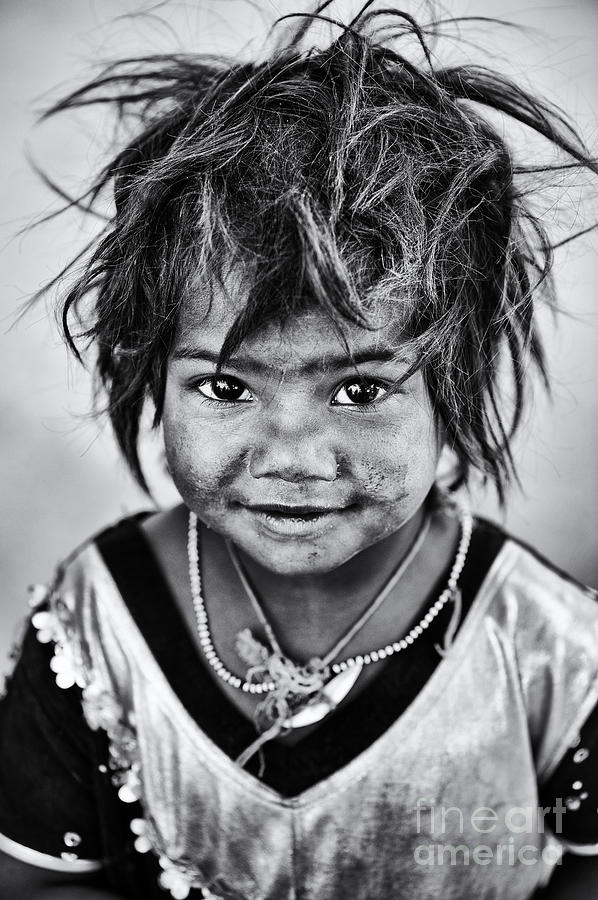 India Photograph - Innocence by Tim Gainey