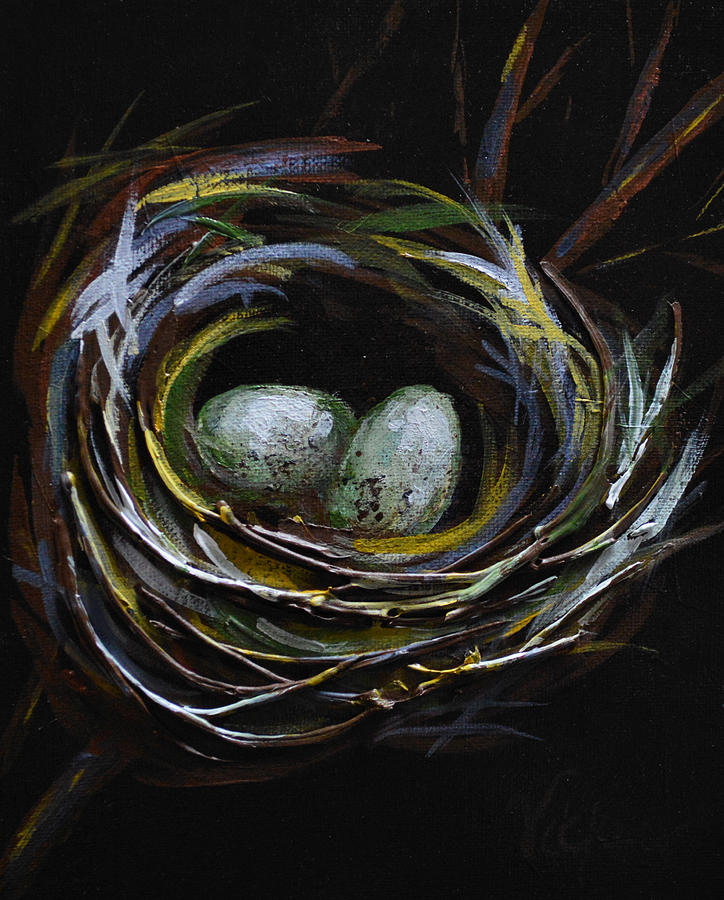 Nest Painting - Innocent by Vickie Warner