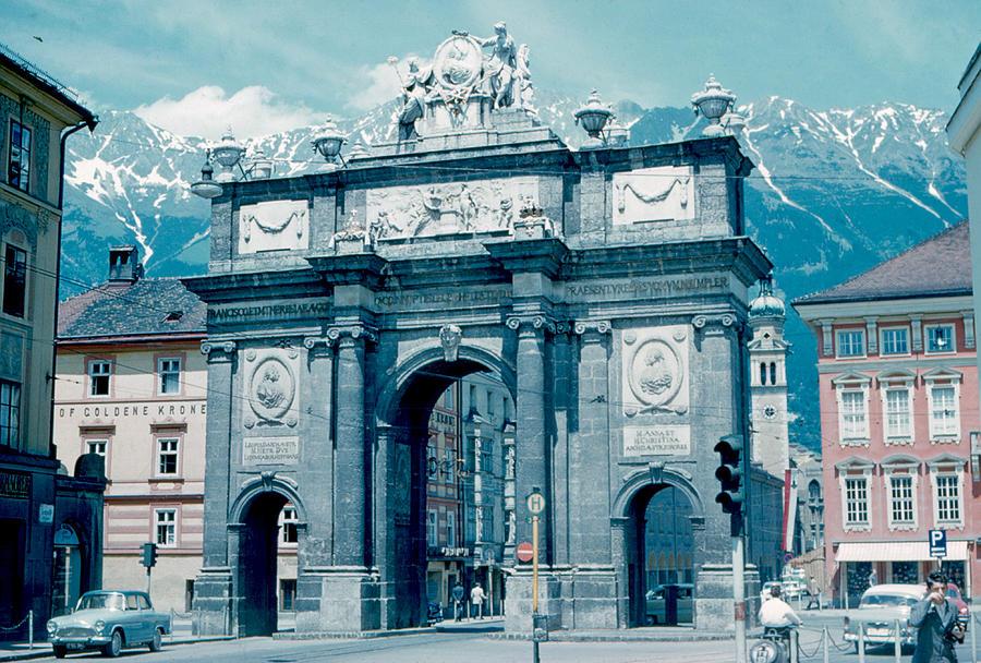 Innsbruck Photograph - Innsbruck Austria 1962 by Cumberland Warden