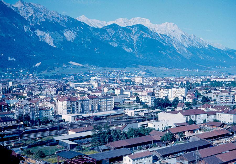 Innsbruck Photograph - Innsbruck Austria 3 1963 by Cumberland Warden