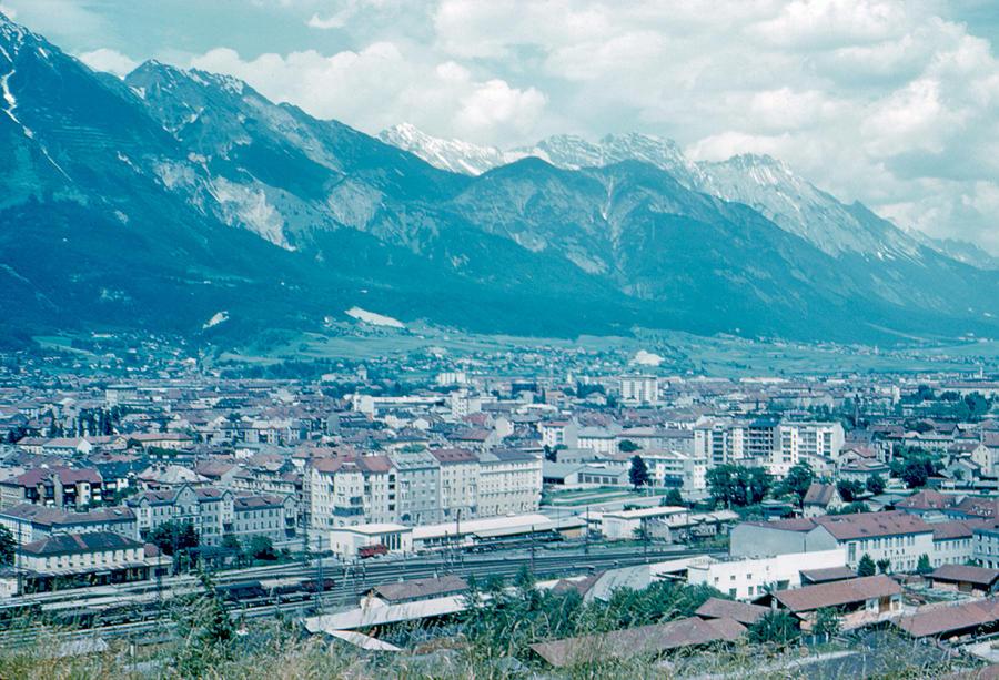Innsbruck Photograph - Innsbruck Austria 5 1962 by Cumberland Warden