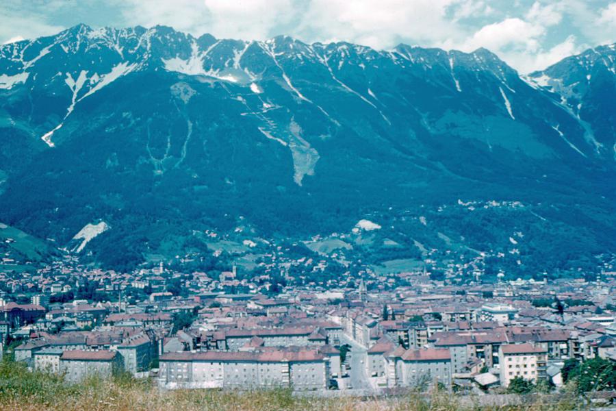 Innsbruck Photograph - Innsbruck Austria 6 1962 by Cumberland Warden