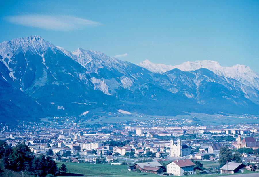 Innsbruck Photograph - Innsbruck Austria 1963 by Cumberland Warden