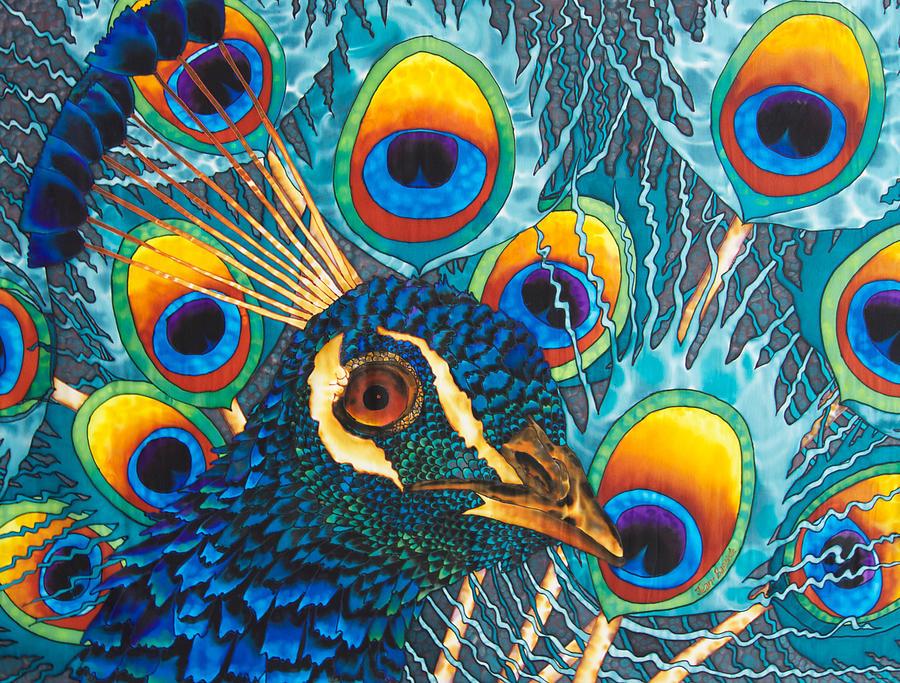Peacock Painting - Insane Peacock by Daniel Jean-Baptiste