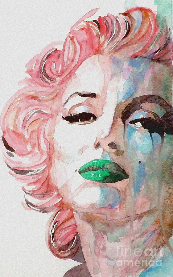 Marilyn Monroe  Painting - Insecure  Flawed  But Beautiful by Paul Lovering
