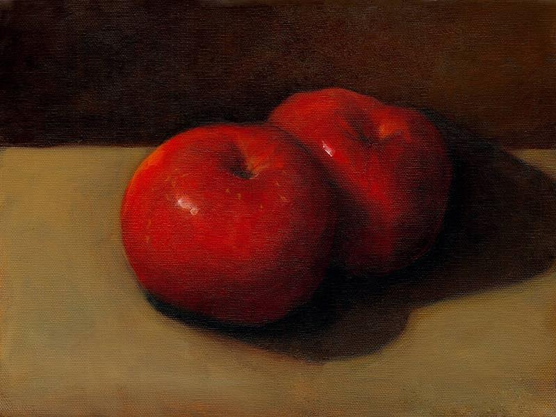 Apples Painting - Inseparable by Susan Greer
