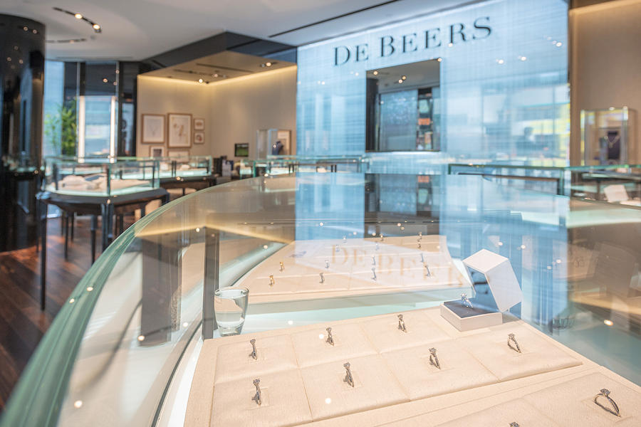Inside a De Beers SA Store Photograph by Bloomberg