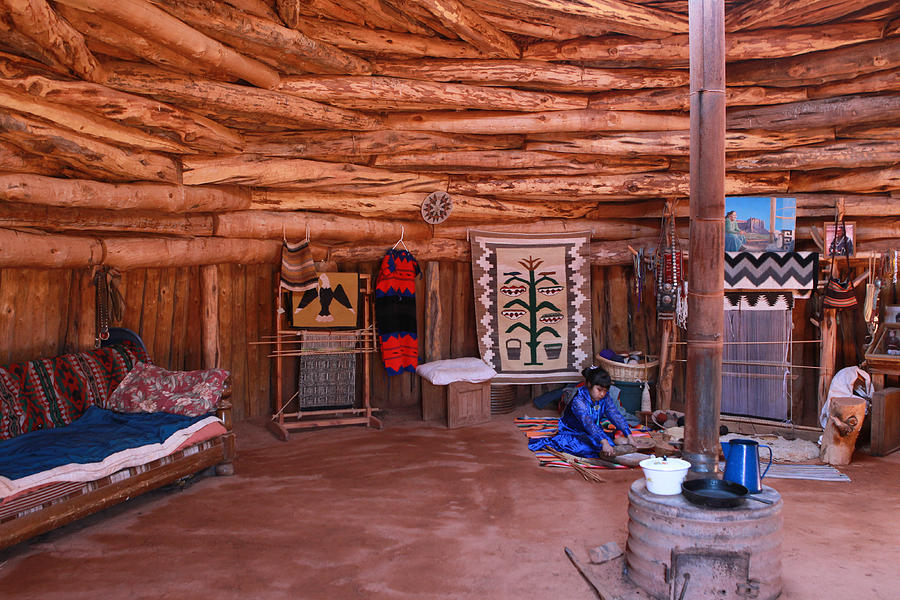 Inside A Navajo Home Photograph By Diane Bohna