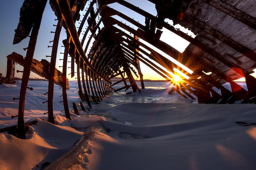 Blue Hour Photograph - Inside A Skeleton by Jakub Sisak