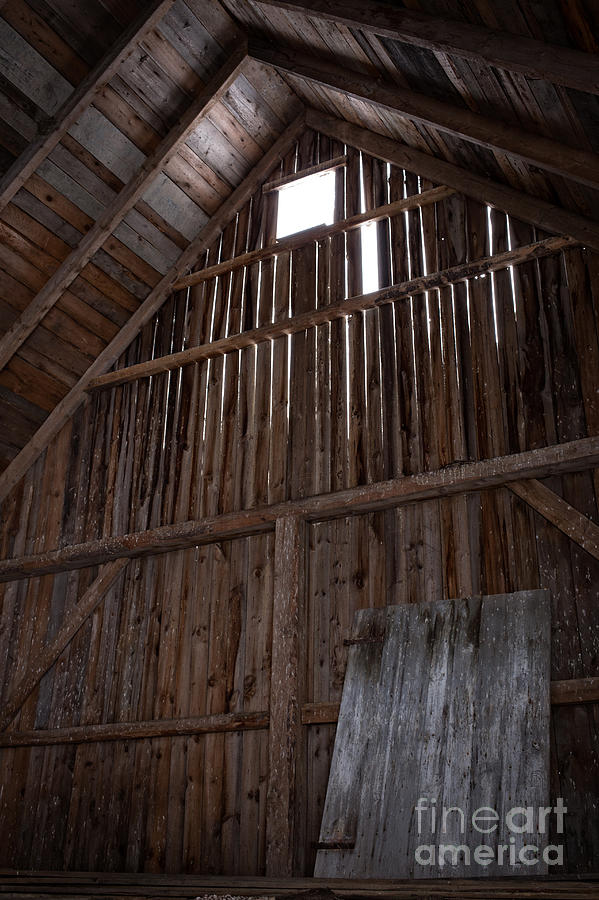Old Photograph - Inside An Old Barn by Edward Fielding