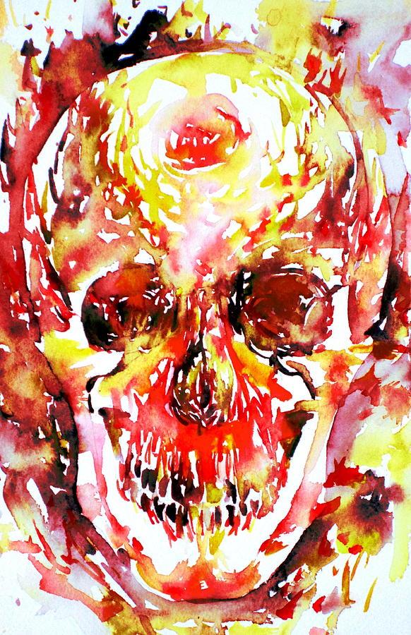 Skull Painting - Inside by Fabrizio Cassetta