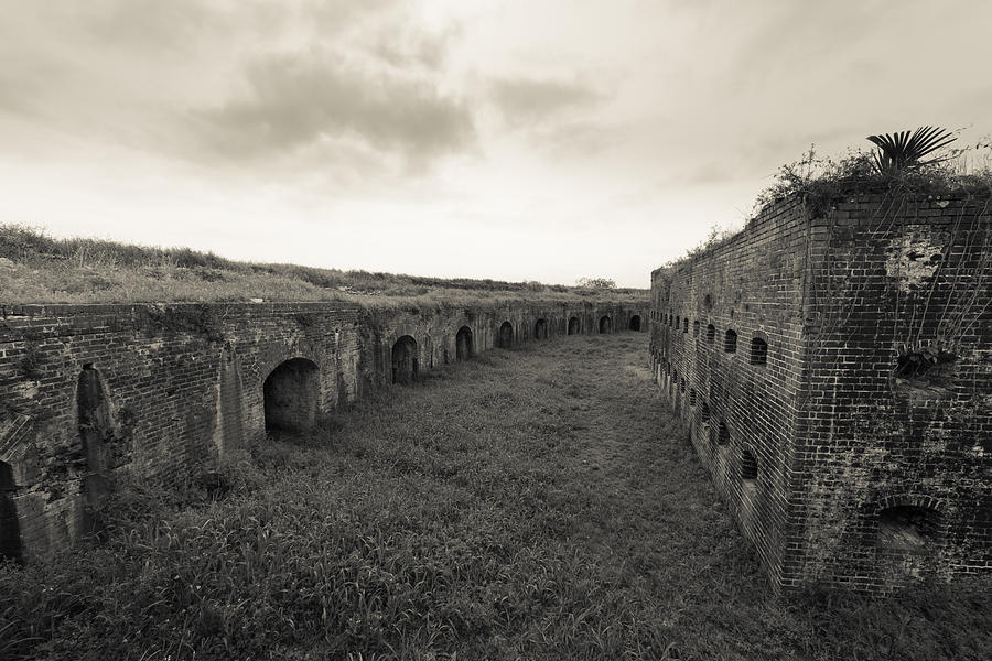 Fort Macomb Photograph - Inside Fort Macomb by David Morefield