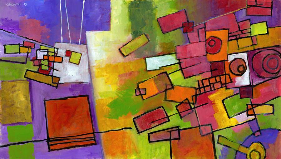 Abstract Painting - Inside Job by Douglas Simonson