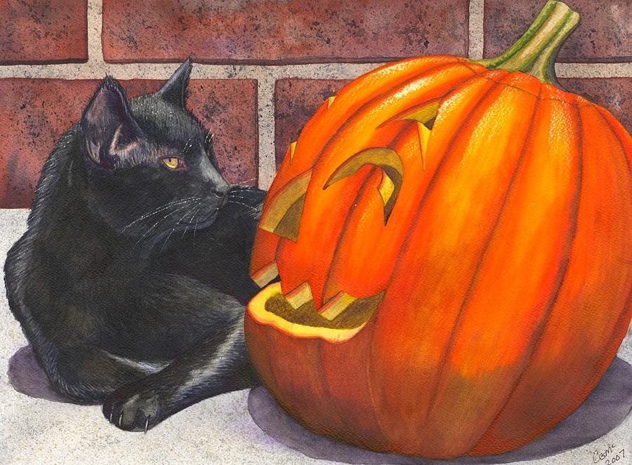 Cat Painting - Inside Joke by Catherine G McElroy