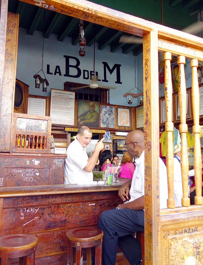 La Bodeguita Del Medio Photograph - Inside La Bodeguita Del Medio by Valentino Visentini