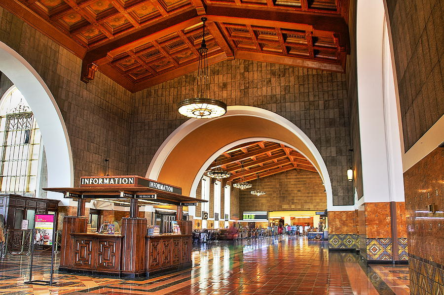 Inside Los Angeles Union Station Photograph by Richard Cheski