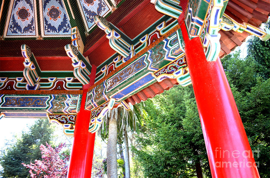 Stow Lake Photograph - Inside Of The Stow Lake Pagoda by Jim Fitzpatrick